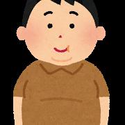 太った男性のイラスト(肥満)
